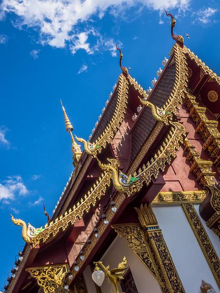 Roof and Gables of Wat Hua Khwang, Chiang Mai
