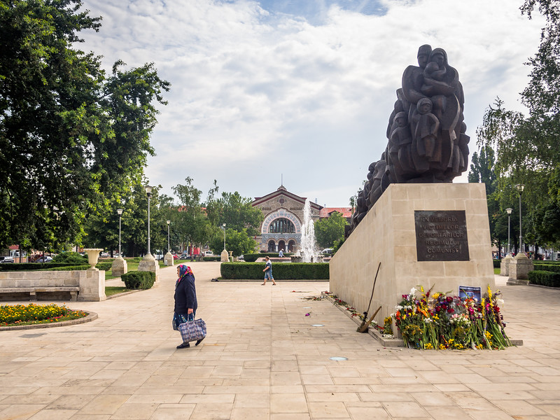 Old Woman and the Train Station, Chisinau