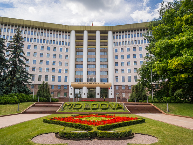 The Moldovan Parliament Building, Chisinau