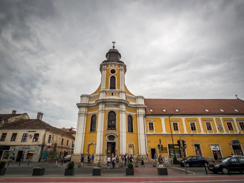 Gray Clouds over the Transfiguration Church, Cluj-Napoca, Romania