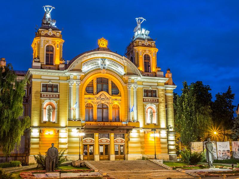 The Theatre at Night, Cluj-Napoca, Romania