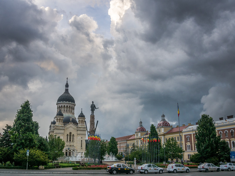 Tumultuous Skies over the Orthodox Cathedral, Cluj-Napoca, Romania