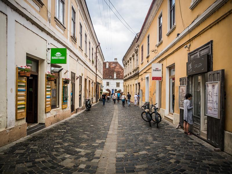 Street Leading to the Matthias Corvinus House, Cluj-Napoca