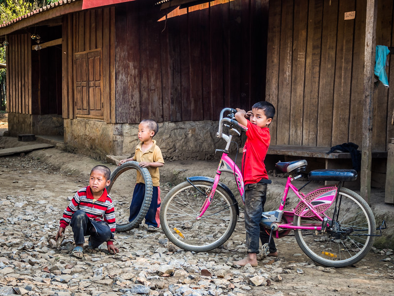 Village Children, Long Nget, Laos
