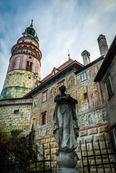 Courtyard Statue, Český Krumlov