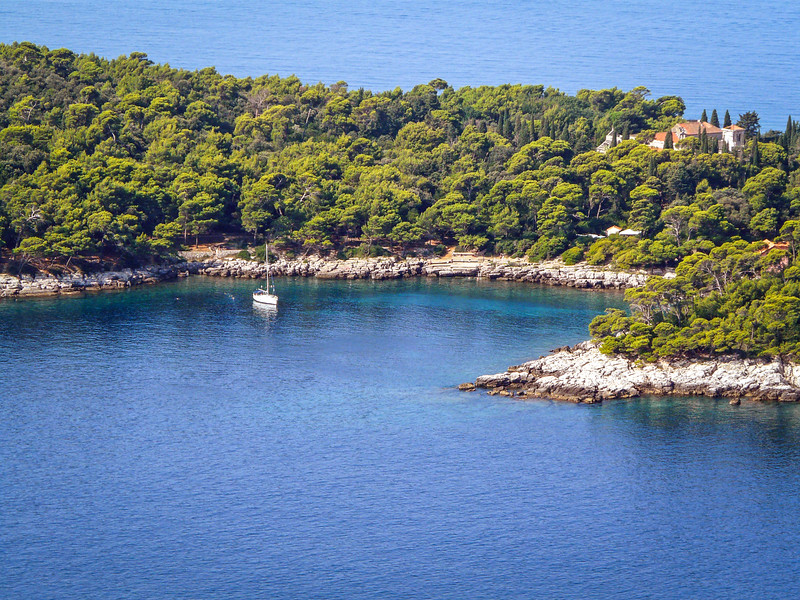 Little Harbor, Lokrum Island near Dubrovnik, Croatia