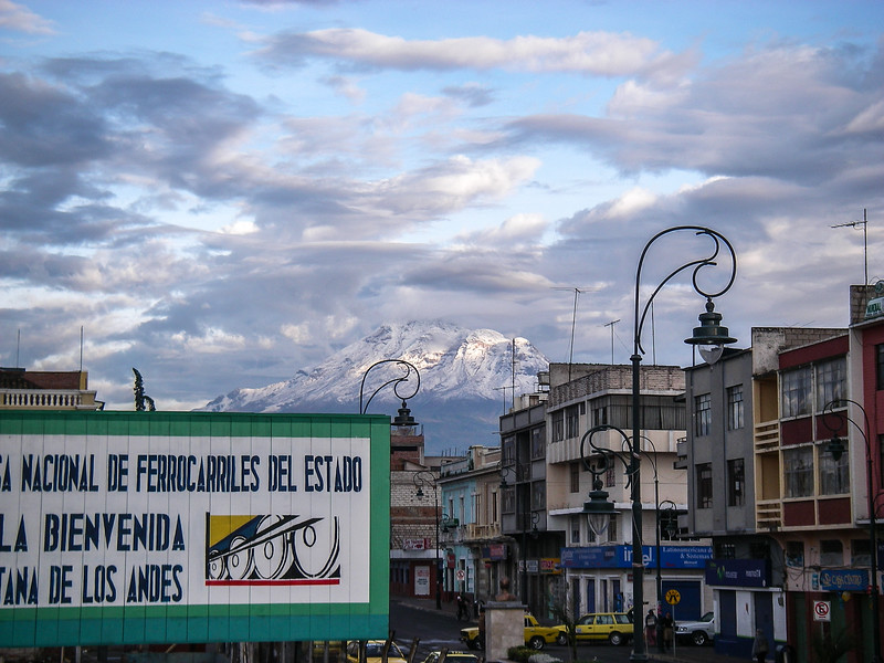 Chimborazo above Riobamba, Ecuador