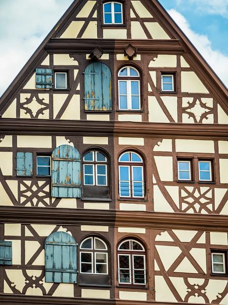 Fachwerk Symmetry, Dinkelsbühl, Germany