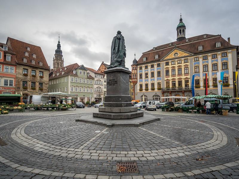On the Marktplatz, Coburg, Germany