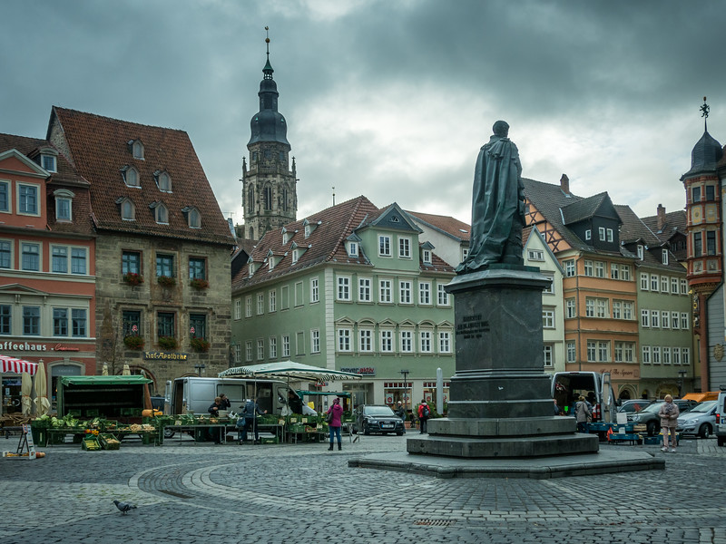 Gray Clouds above the Market Square, Coburg, Germany