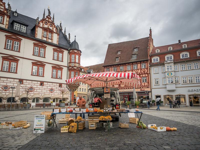 Fruit Seller on the Marktplatz, Coburg, Germany