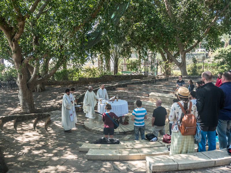 Outdoor Mass on the Sea of Galilee, Israel