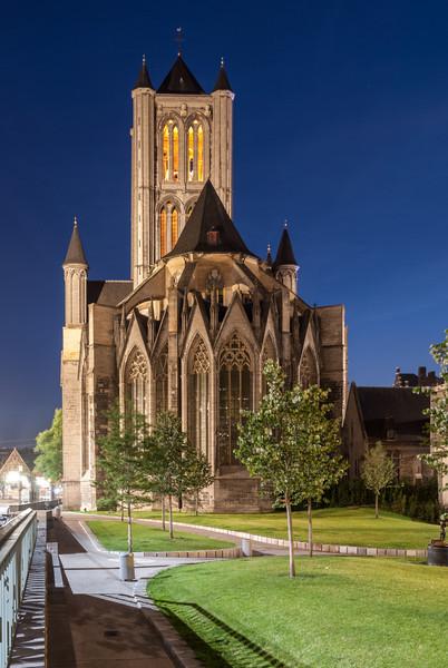 Sint-Niklaaskerk at Night, Ghent
