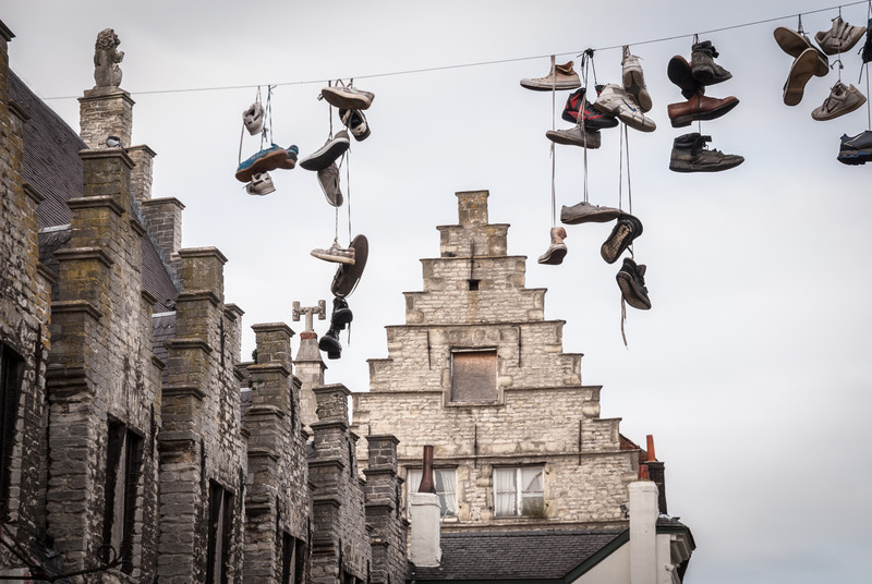 Shoes on the Line, Ghent, Belgium