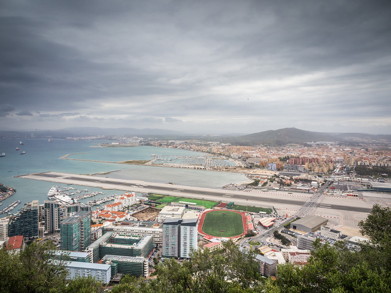 Airport and on to Spain, Gibraltar