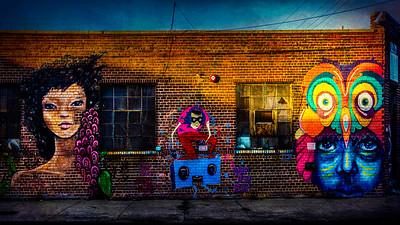 Three Graffiti Wall