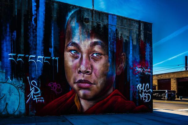 Young Monk Street Art