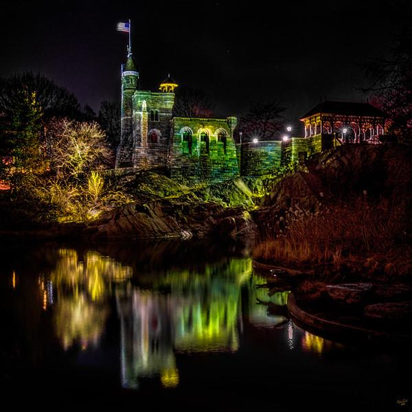 Belvedere Castle At Night, Central Park