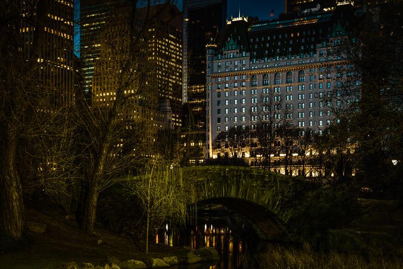 City Lights At The Gapstow Bridge