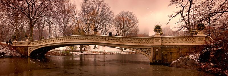 Bow Bridge in Snow, Central Park