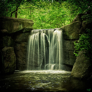 Central Park North Woods Waterfall, NYC