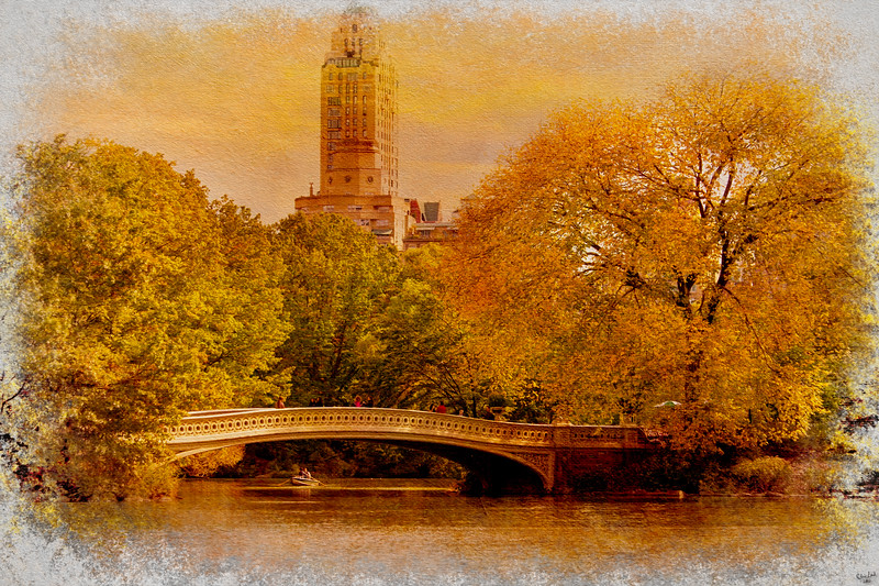 Bow Bridge In Fall, Central Park