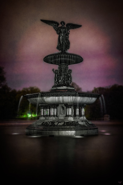Angel Of Waters (Bethesda Fountain at Night), Central Park