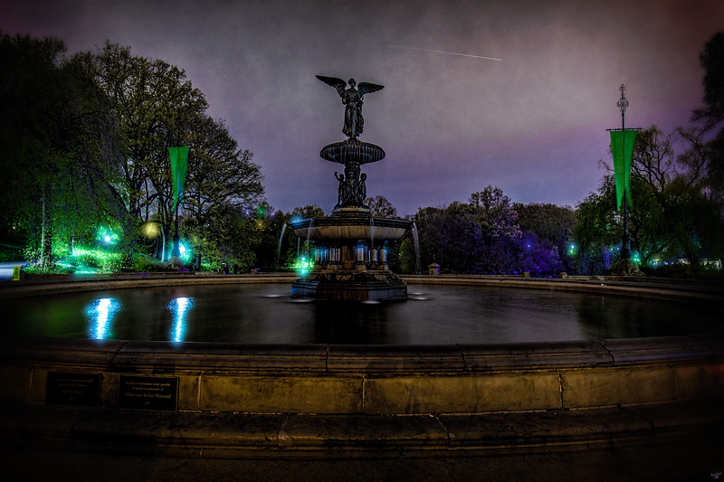 Bethesda Fountain at Night, Central Park