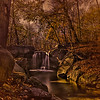Autumn At The Waterfall.<br /> In The Ravine, North Woods, Central Park