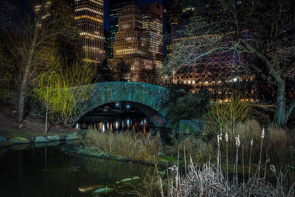 Gapstow Bridge At Night