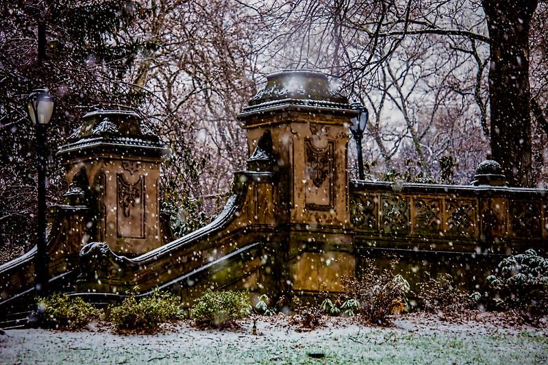 Bethseda Terrace in Snow, Central Park