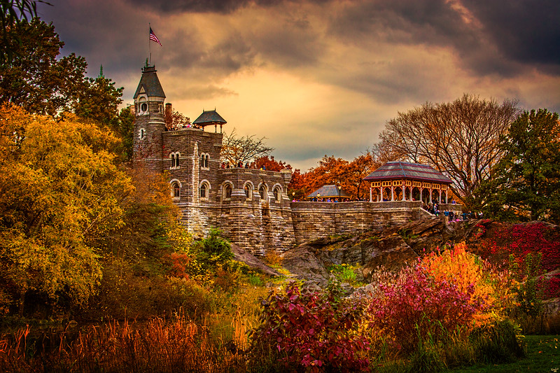 Belvedere Castle In Autumn, Central Park