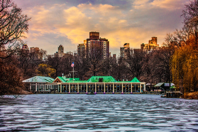 Central Park Boat House In Winter