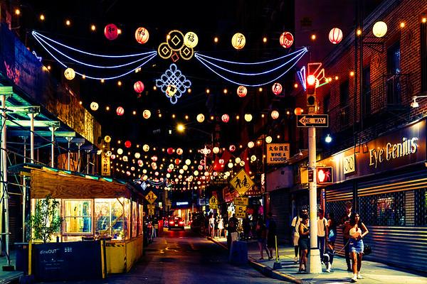 Bayard Street At Night