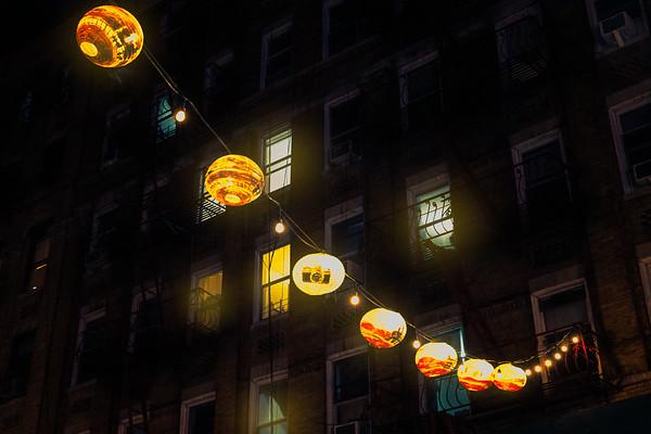 Lanterns On A Dark Street