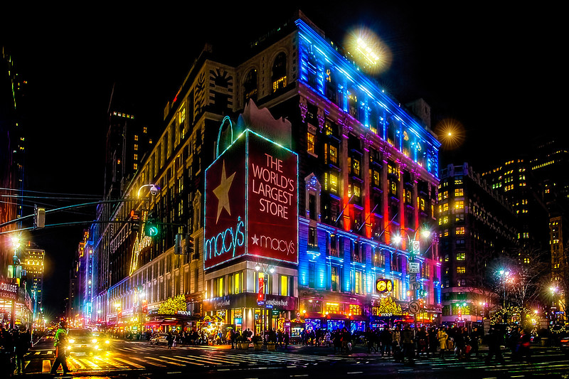 Macy's Department Store at Christmas
