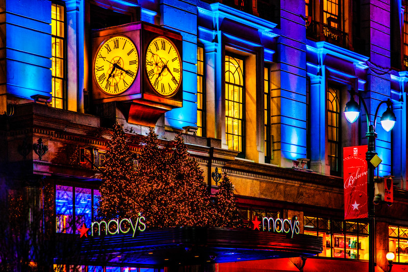 The Macy's Clock at Christmas