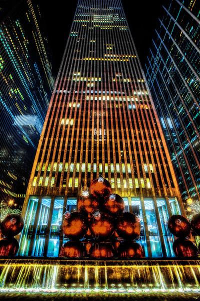 Festive Manhattan Buildings