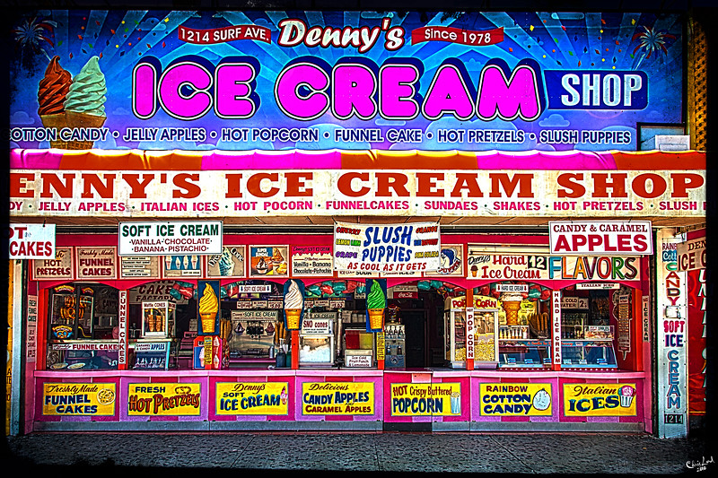 Classic American Ice Cream Shop Denny's On Surf Avenue