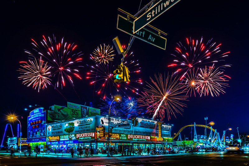 Saturday Night Fireworks Over Nathans