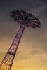 The Parachute Drop At Sunset