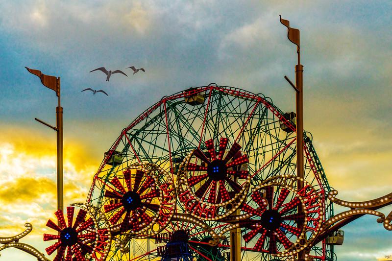 Luna Park Entrance and Wonder Wheel