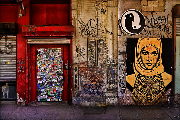 A West Village Wall with Graffiti
