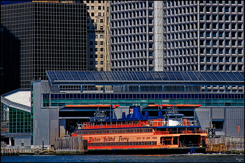 Staten Island Ferry Leaves The Terminal