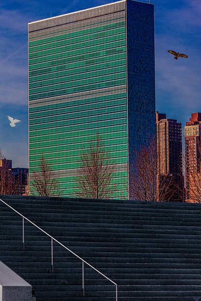 United Nations Building From Roosevelt Island
