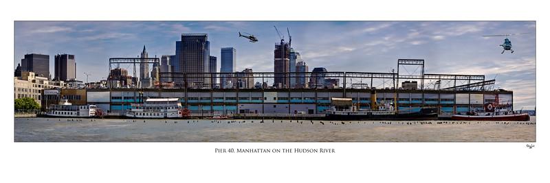 Pier 40, Hudson River, Manhattan, New York City