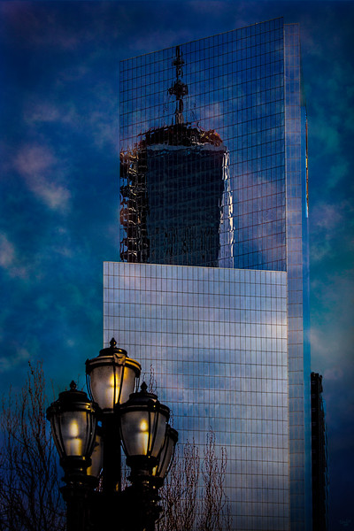 One World Trade Center Reflected In A Nearby Glass Building