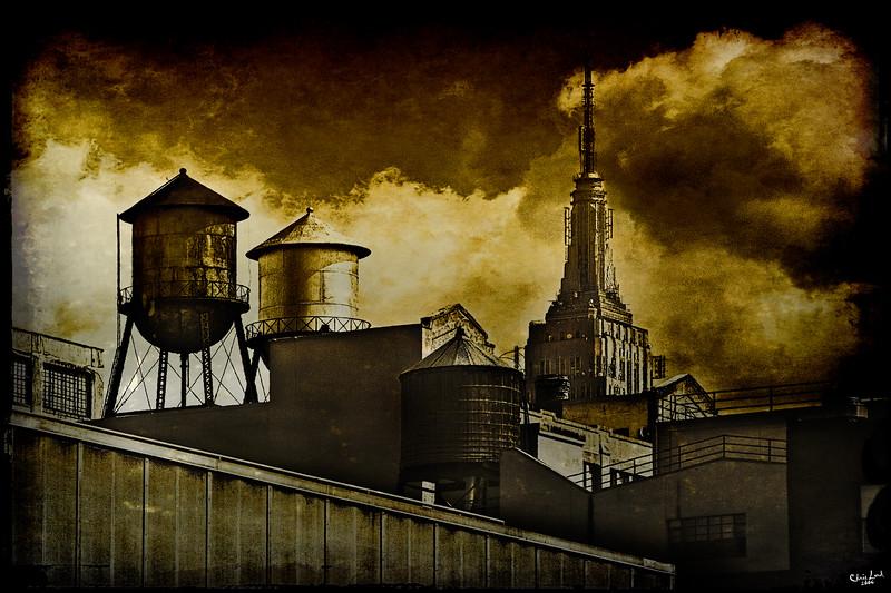 A New York Watertower Skyline