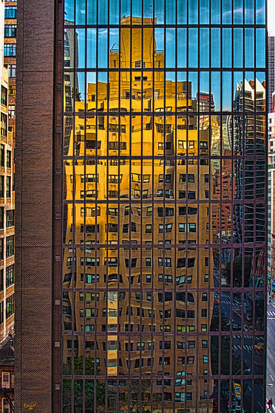 East Side Reflection, Day<br /> 47th Street & 2nd Avenue from a 16th Floor Terrace