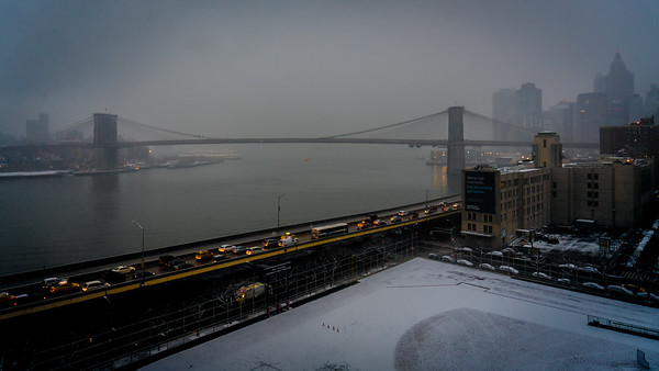 The Brooklyn Bridge In Winter